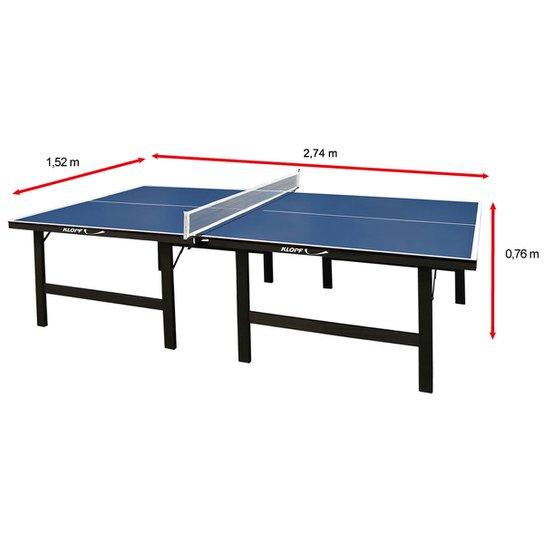 05e026041 Mesa de Ping Pong   Tênis de Mesa Klopf MDP - 18 mm - Azul