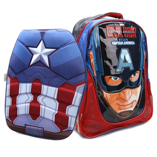 7b18dc7cc91 Mochila Infantil Escolar Xeryus Marvel Capitão América - Compre ...