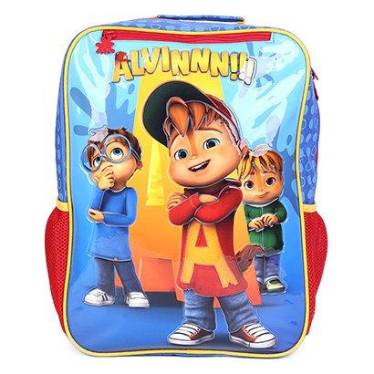 Mochila Escolar Infantil Xeryus Estampa Alvin e os Esquilos
