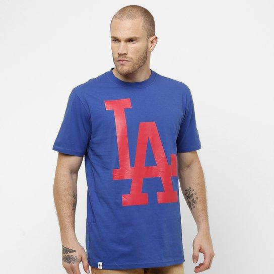 Camiseta New Era MLB Color Los Angeles Dodgers 10 - Azul - Compre ... d3c9e322e31