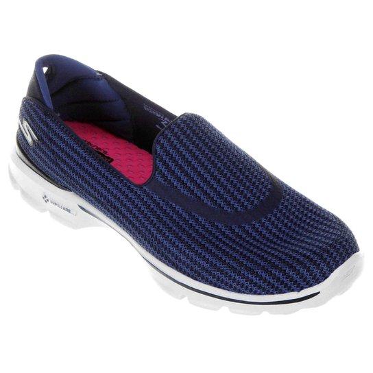 701768def2c Sapatilha Skechers Go Walk 3 Feminina - Azul - Compre Agora