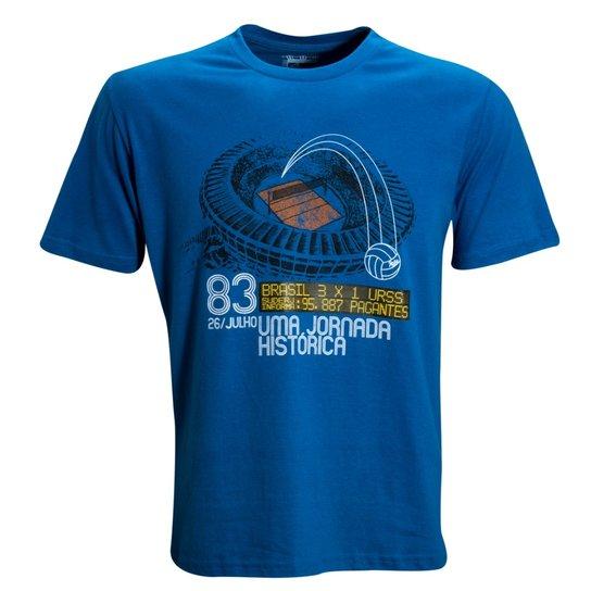 8668140437 Camisa Liga Retrô Volei Jornada 1983 - Azul - Compre Agora