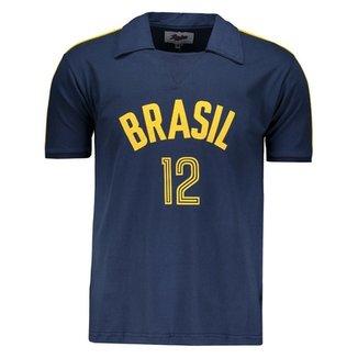 63fd7caca8 Camisa Brasil Vôlei Retrô Masculina
