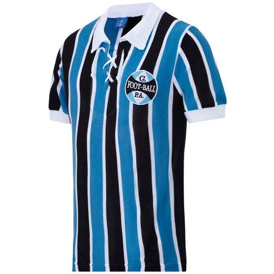 Camisa Retrô Grêmio Cordinha 1929 Masculina - Azul e Preto - Compre ... 1d219ed9d4b64