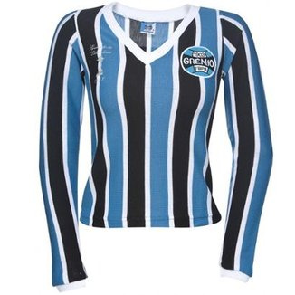 4f00075484 Camisa Retrô Grêmio Manga Longa 1983 Feminina