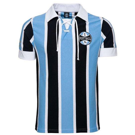 c7b0bd219f3b7 Camisa Retrô Grêmio 1930 Masculina - Azul e Preto - Compre Agora ...
