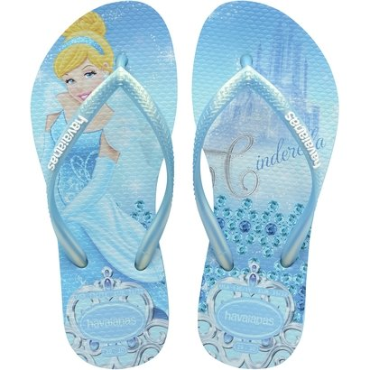 Chinelo Infantil Havaianas Slim Disney Princesas