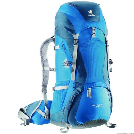 87567fa878 Mochila Cargueira para Trekking 50 Litros Act Lite 50+10 Deuter - Azul