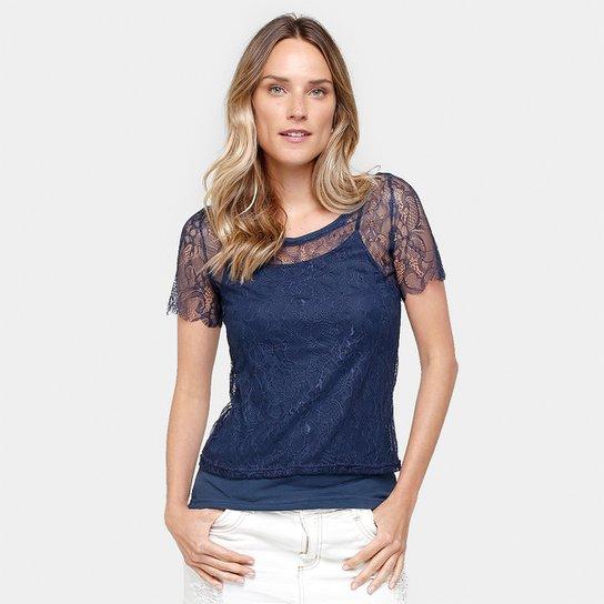 8916340c6 Blusa Blue Bay Renda Com Forro - Compre Agora | Netshoes