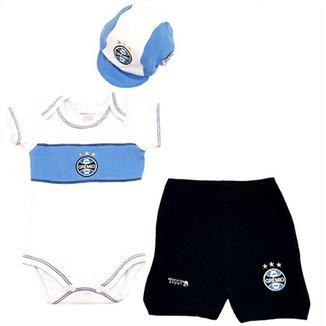Kit Body Shorts Boné Liso Suedine Unissex Grêmio Reve Dor - P 03aa9437ab767