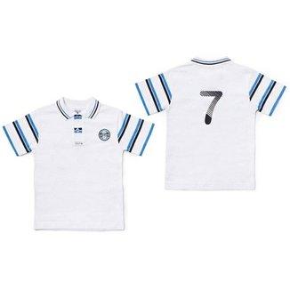 Camiseta Polo Meia Malha Menino Grêmio Reve Dor ffb853c724179