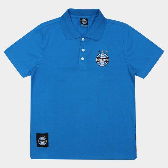 671c2479aa Camisa Polo Grêmio Masculina - Azul - Compre Agora