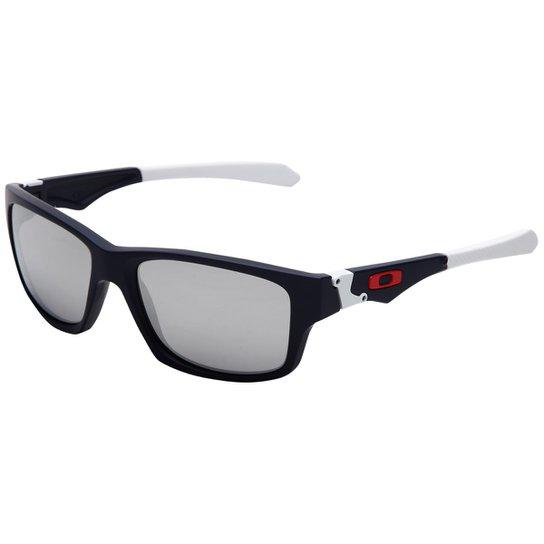 1011c5fc28c7c Óculos Oakley Jupiter Squared Iridium - Marinho+Branco