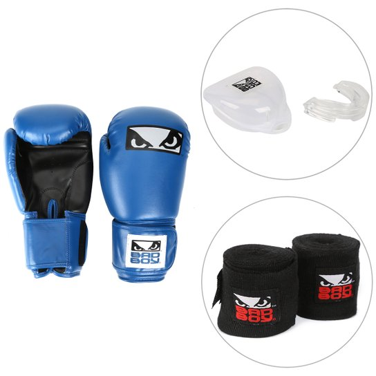 40946e2f7 Kit Luva de Boxe   Muay Thai Bad Boy 10 OZ + Bandagem Elástica Bad ...