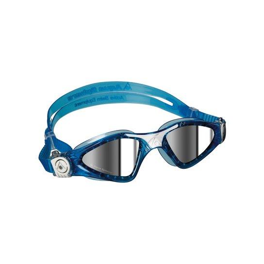 eb1ebf09f Óculos Natação Kayenne Small Lente Espelhada Aqua - Azul