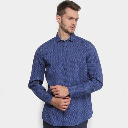 d8918107d6 Camisa Fit Estampada Tommy Hilfiger Manga Longa Masculina | Netshoes