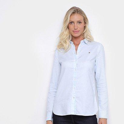 Camisa Social Tommy Hilfiger Jenna Shirt Ls W2 Feminina