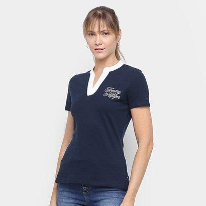 Camisa Tommy Hilfiger Gola V Feminina