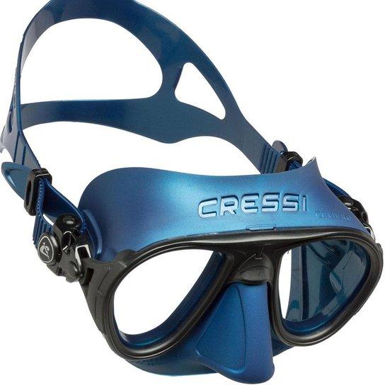 0e22f4bc7 Máscara de Mergulho Silicone Calibro Cressi - Azul