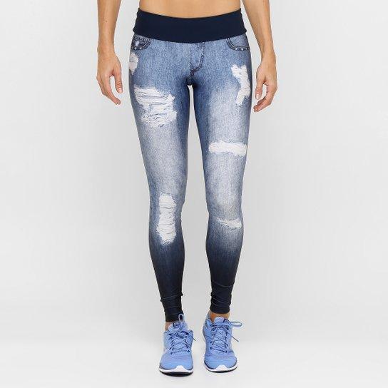 1aaa720b2a Calça Legging Live Fusô Denim Jeans Plus - Compre Agora
