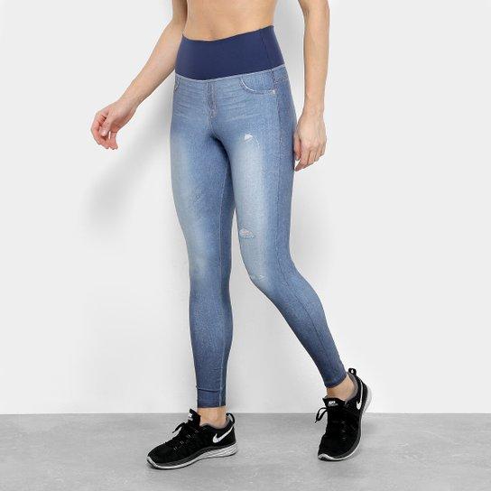 e100b749a3 Calça Legging Live Jeans Reversible Feminina - Azul - Compre Agora ...