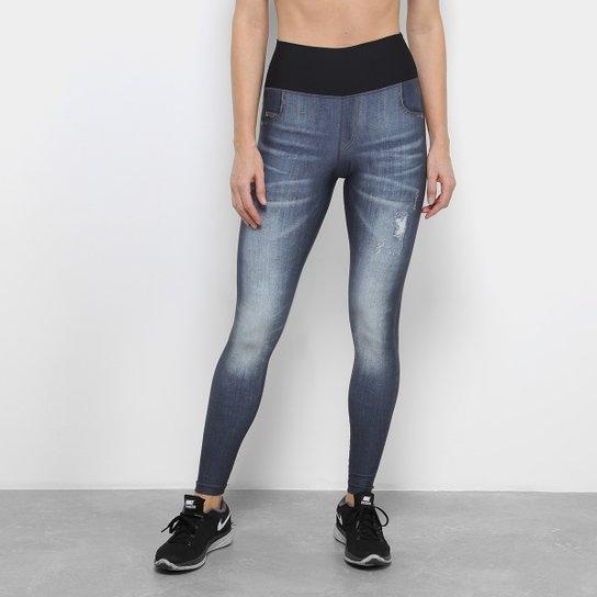 80280d720b Calça Legging Live Dupla FaceCity Feminina - Azul - Compre Agora ...