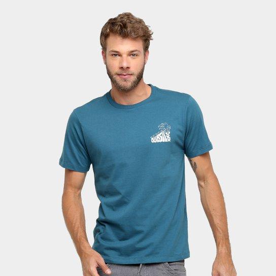 24e2fbcc15f8f Camiseta Quiksilver Básica Palm Masculina - Azul - Compre Agora ...