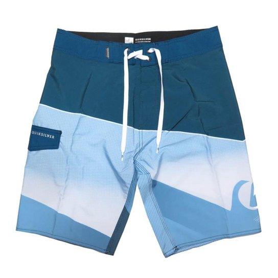 Bermuda Água Quiksilver Slash Fade Masculina - Azul - Compre Agora ... e041938ce11