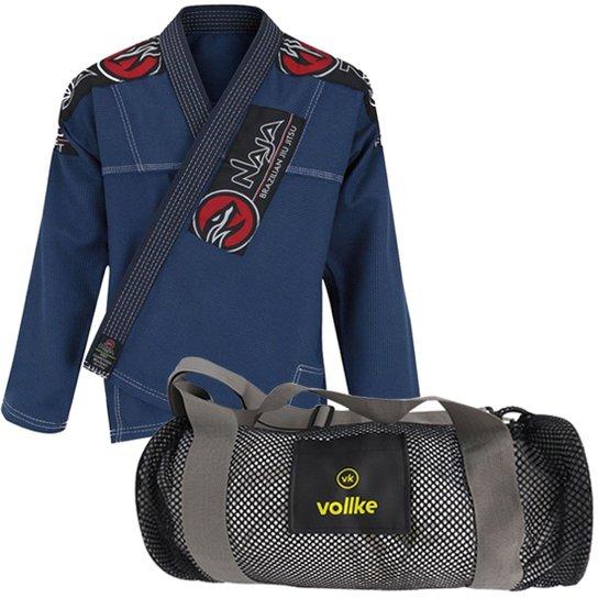 46281481a Kit Jiu Jitsu com Bolsa Vollke - Azul+Preto