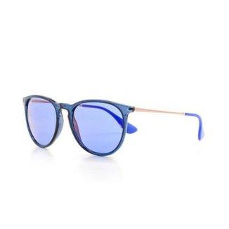 877c7ddcf Óculos de Sol Ray Ban Erika Proteção UV Redonda Masculino