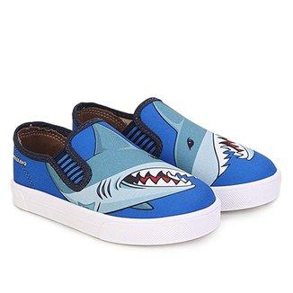 3a5cd61392e Slip On Infantil Molekinho Tubarão Masculino