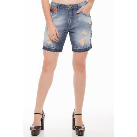 fa7a3671d Bermuda Jeans Meia Coxa Boy Denúncia Feminina - Compre Agora