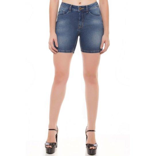 8f06e106b Shorts Jeans Mid Rise Middle Denúncia Feminina - Azul