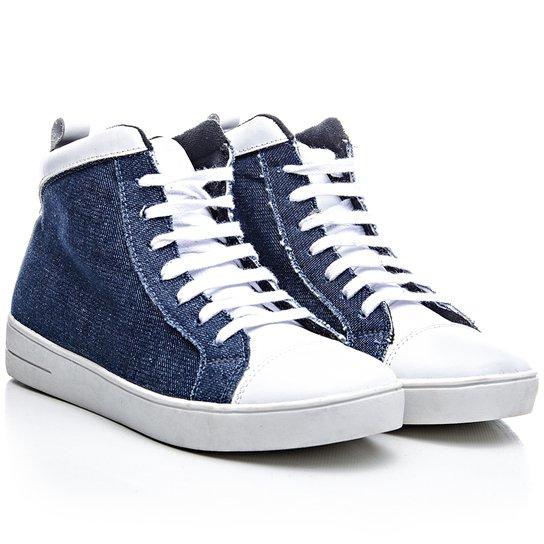034e7559b14 Tênis Rock Fit Cano Alto Em Jeans - Azul - Compre Agora
