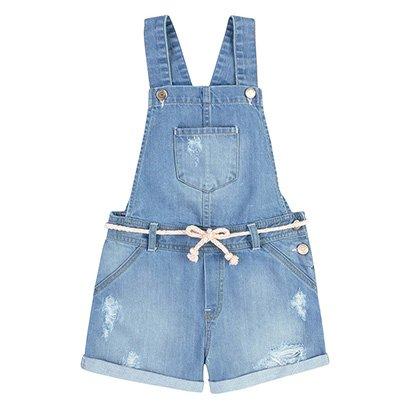 Macaquinho Infantil Hering Jeans Feminino