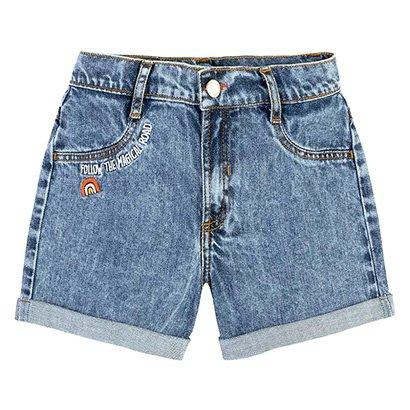 Bermuda Jeans Infantil Hering Magic Road Feminina