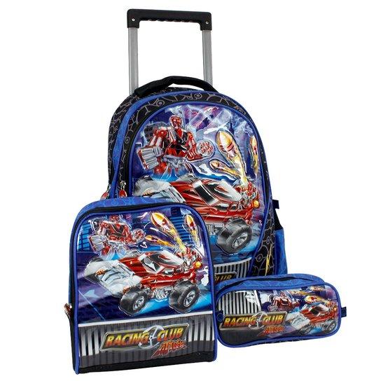 066956129 Kit Escolar Clio Racing Club - Mochila, lancheira e estojo   Netshoes