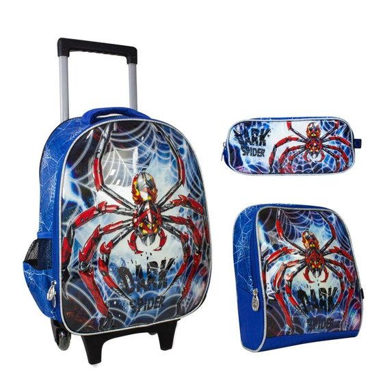 d98e89a39 Kit Escolar Dark Spider Mochilete, Lancheira e estojo | Netshoes