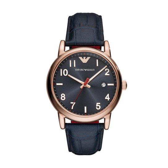 fc987e7d95cdf Relógio Empório Armani Masculino Luigi - AR11135 0AN AR11135 0AN - Azul ...
