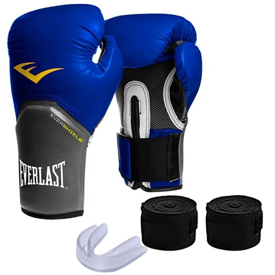 9a72a4492 Kit Muay Thai Luva Everlast 12OZ Bandagem Bucal - Compre Agora ...