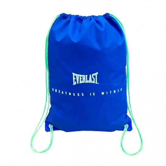 3831813f6 Gym Sack Bolsa Sacola para Acessorios Esportivos - Everlast - Azul ...