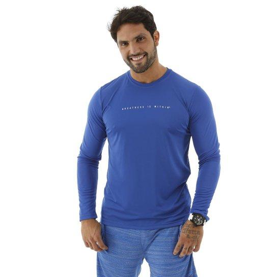 Camiseta Manga Longa Dry Masculina - Azul - Compre Agora  c108faf2025