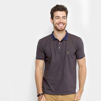 f0f7a9978de5d Camisa Polo Reserva Poá Frisos Masculina