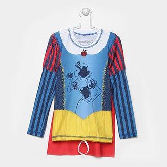 17311447ad Camiseta Infantil UV Line Acqua Branca de Neve Feminina
