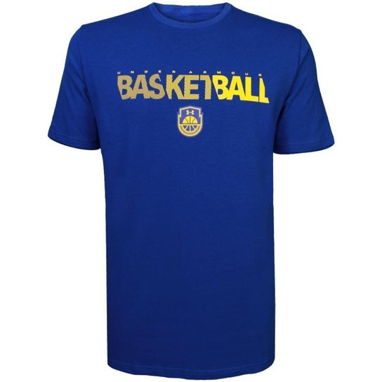 c4247cb11882a Camiseta Under Armour Basketball Wordmark Masculina - Azul - Compre ...