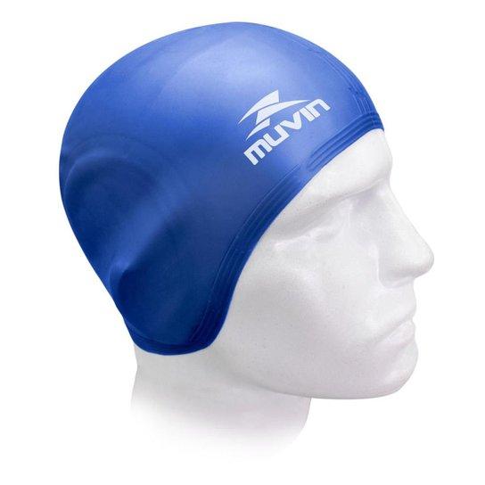 39742a927 Touca de Natação em Silicone Orelha Muvin TCS-500 - Azul