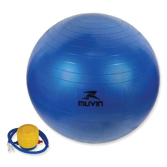 4f35be5a0312e Bola Pilates Fitball Com Bomba Muvin - 85Cm - Azul - Compre Agora ...