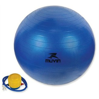 Bola Pilates Fitball Com Bomba Muvin - 55Cm - Azul d059c8fe0d1a9