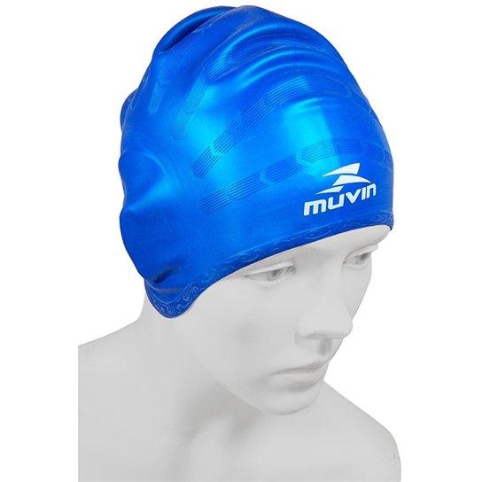 Touca Natação Orelha Collor - Muvin - Azul - Compre Agora  0e83f57b606