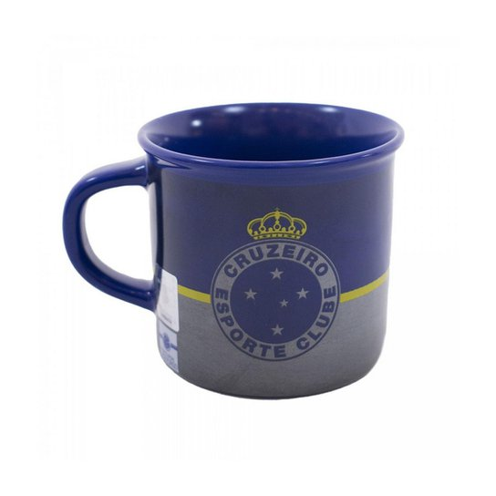 0ce8b8734ba6a Caneca De Porcelana 400ml Cruzeiro - Azul - Compre Agora